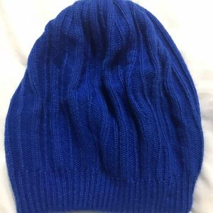 Hanes Her Way Blue Knit slouchy Beanie